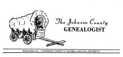 First masthead of The Genealogist, 1972